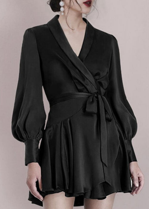 Daniella Satin Dress Black