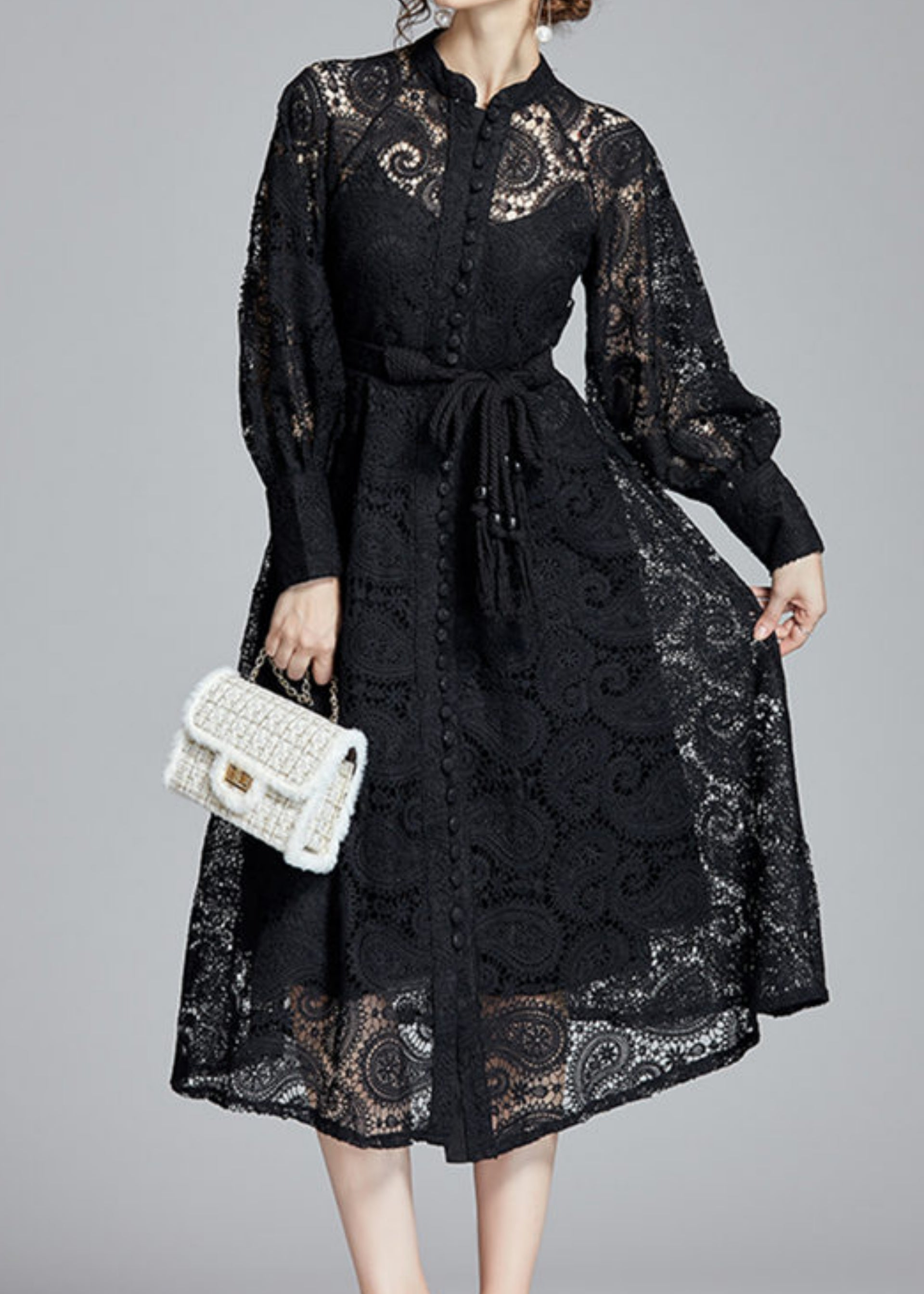 Dana Lace Dress Black