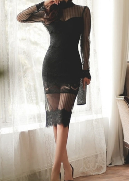 Favor Backless Lace Dress