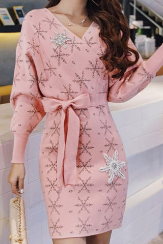 Fancy Lace Coat Dress