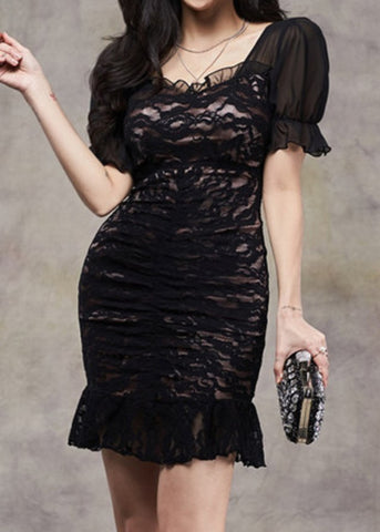 Vanessa Lace Dress Black