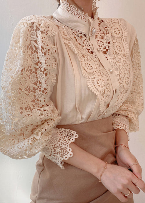 Kam Signature Lace Blouse