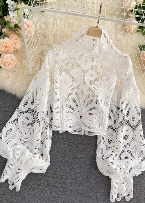 Lily of the Valley Blouse White