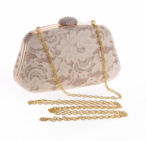 Cannes Lace Bag White