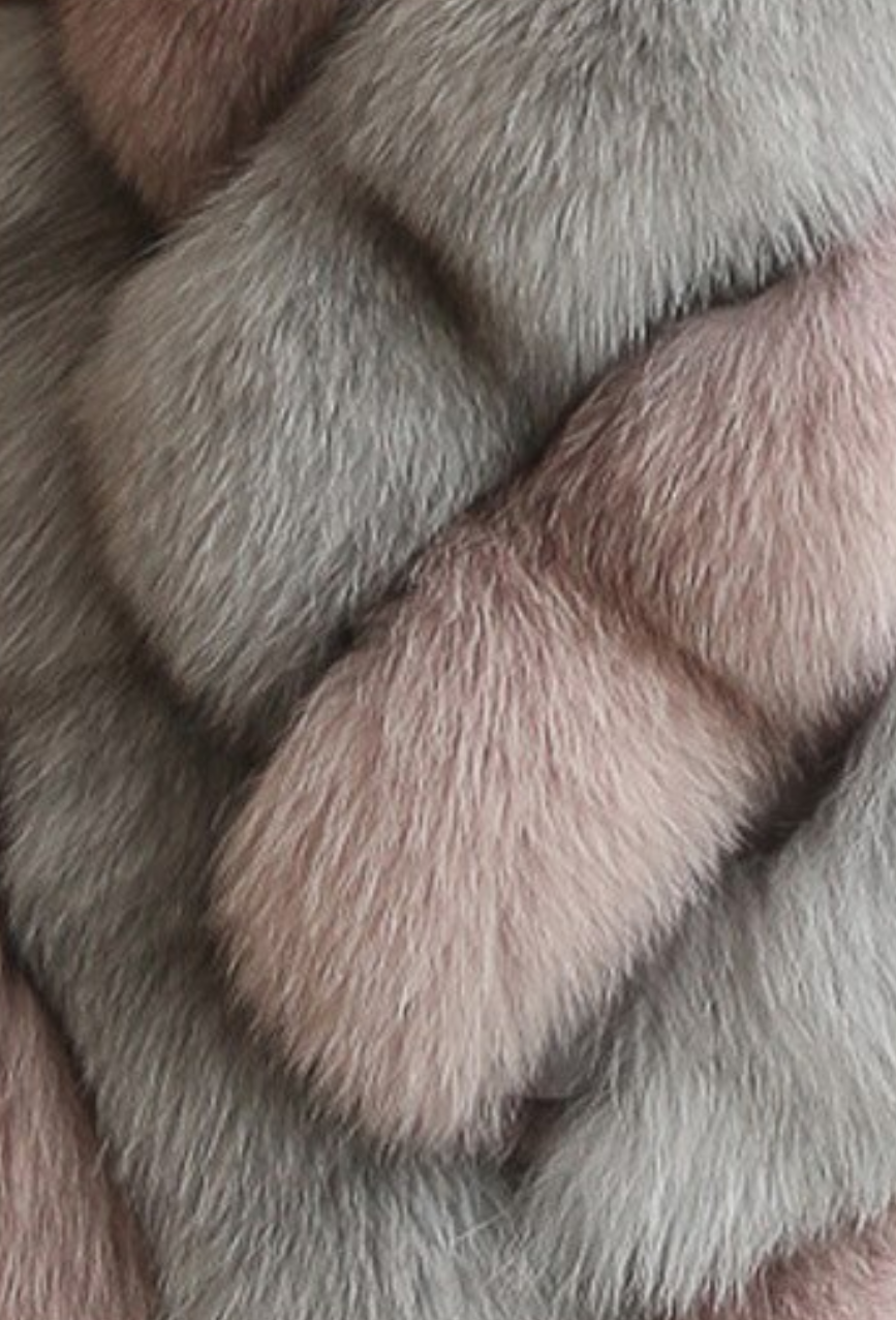 Glorious Vegan Fur Coat Pink