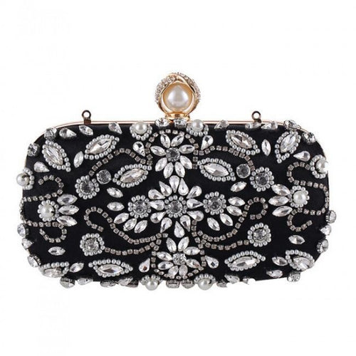 Josefina Handbeaded Bag Black
