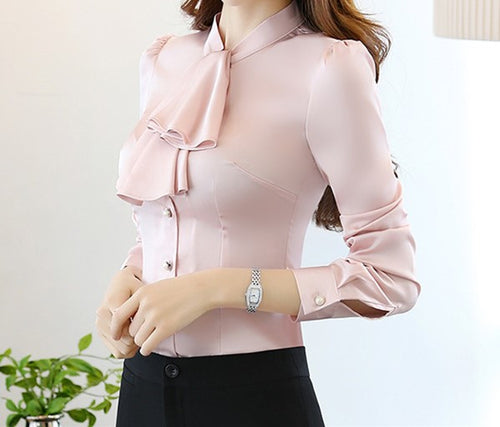 Crown Collar Blouse Pale Pink