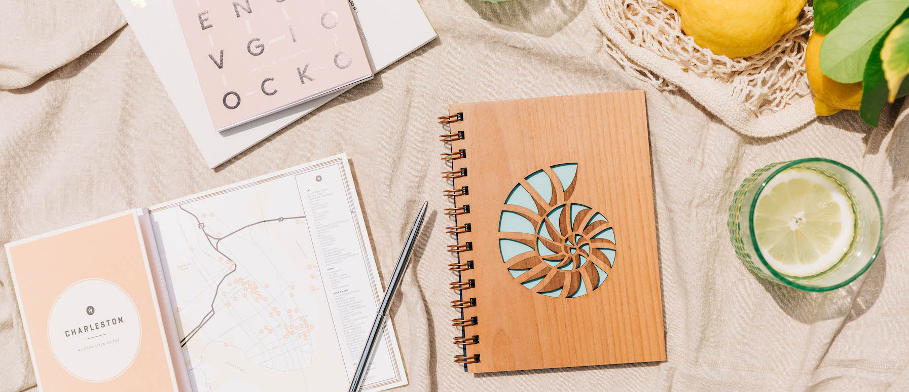 Hereafter Nautilus Wood Journal Laser Cut