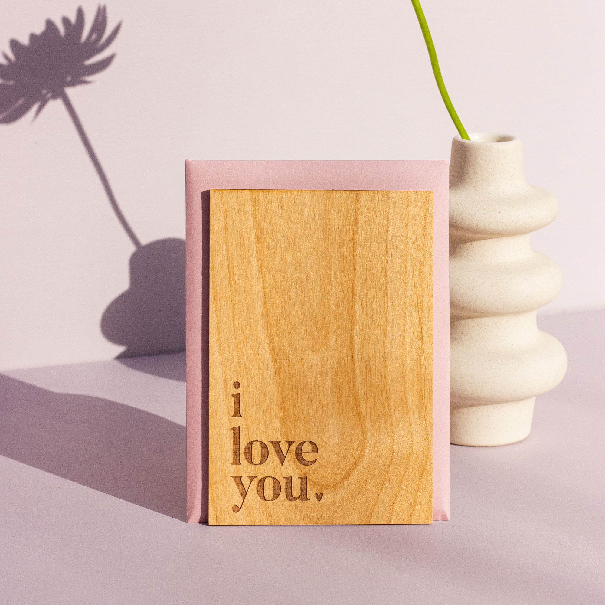 Love Letter Wood Card