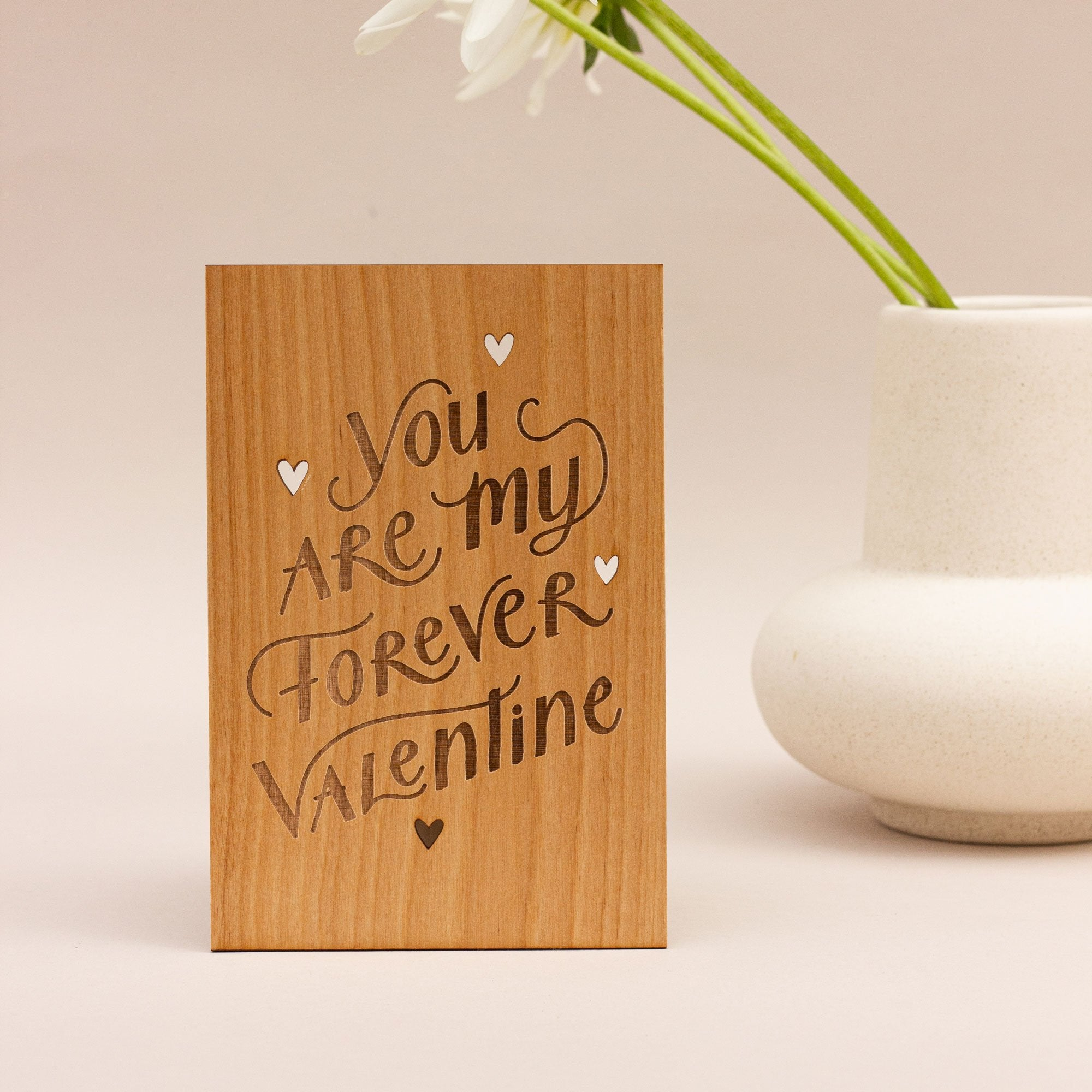 Forever Valentine Wood Card