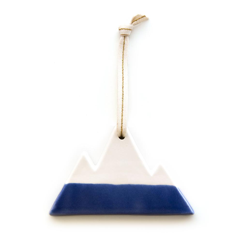 Ceramic Mountain Ornament