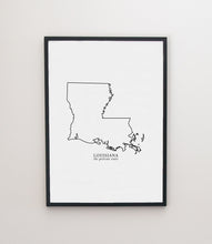 Load image into Gallery viewer, louisiana modern print