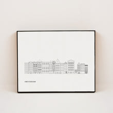 Load image into Gallery viewer, minimalist print of amsterdam netherlands