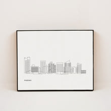 Load image into Gallery viewer, minimalist print of phoenix arizona