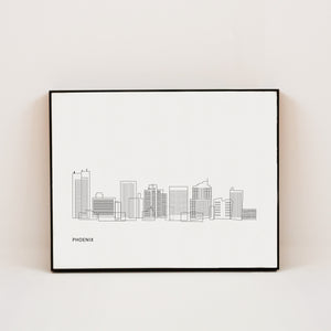 minimalist print of phoenix arizona