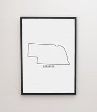 Load image into Gallery viewer, nebraska modern print