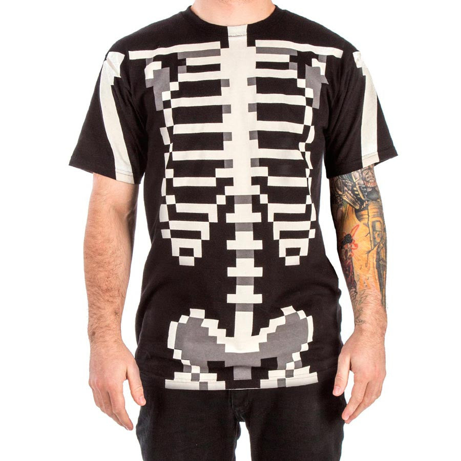 Shirt design video - Skelesprite Pixellated 8 Bit Skeleton Video Game T Shirt For Gamers 8 Bitty Geek T Shirts And Video Game Apparel