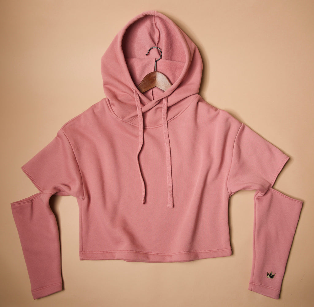 S2C Rose Gold Cut-Out Hoodie