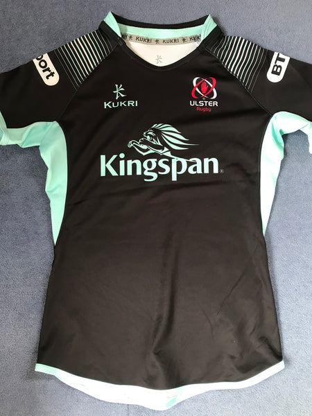 Ulster Rugby - Pro 12 / 14 Match Shirt [Black & Light Blue]