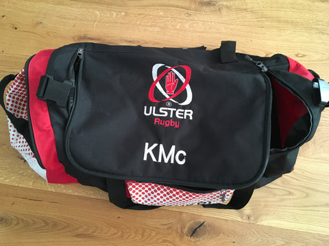 Ulster Rugby - Canvas Travel /  Kit Bag [Black, Red & White]