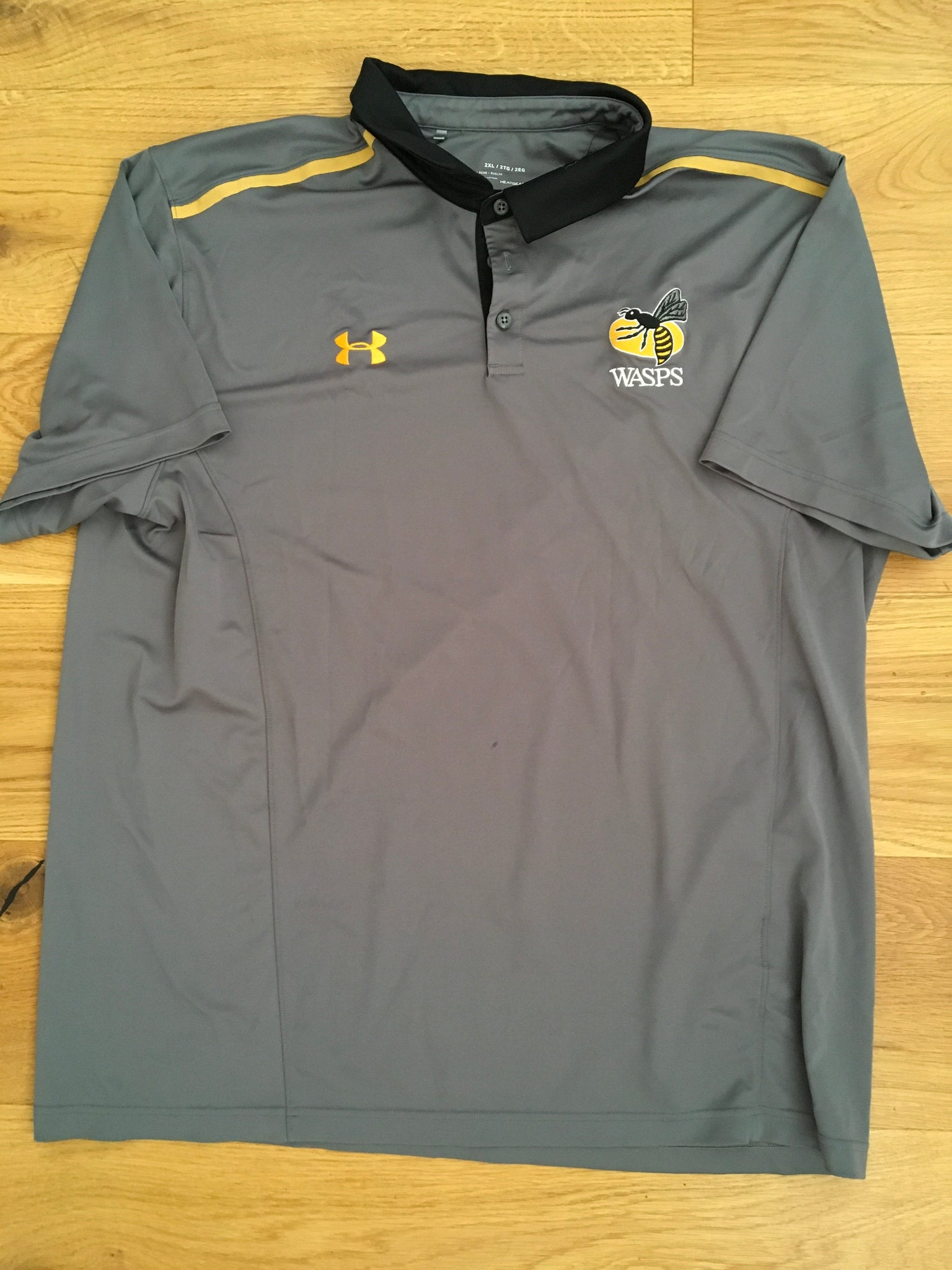 Marcus Watson - Wasps Polo Shirt [Grey, Black & Gold]