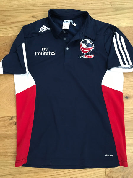 Mike Friday - Team USA Rugby 7's Polo Shirt [Blue, Red & White]