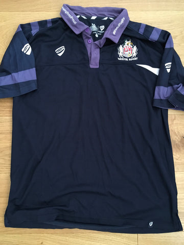 Ross McMillan - Bristol Rugby Polo Shirt [Purple & Blue]