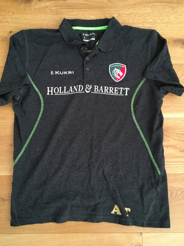 Jonah Holmes - Leicester Tigers Polo Shirt [Grey & Green]