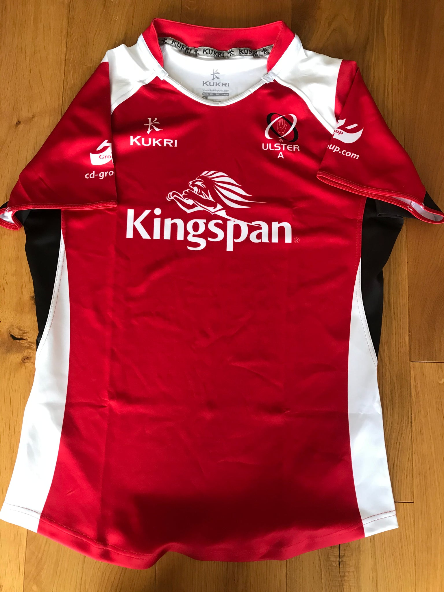 Ulster Rugby - Ulster A Match Shirt [Red, White & Black]