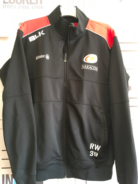 Richard Wigglesworth  - Saracens Tracksuit Jacket [Black & Red]