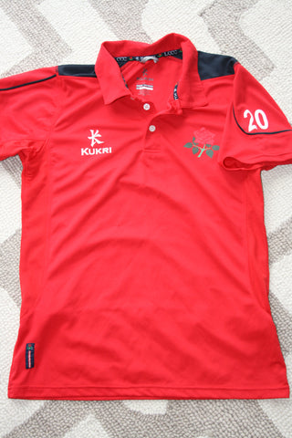 Paul Horton - Lancashire CCC Polo Shirt [Red]