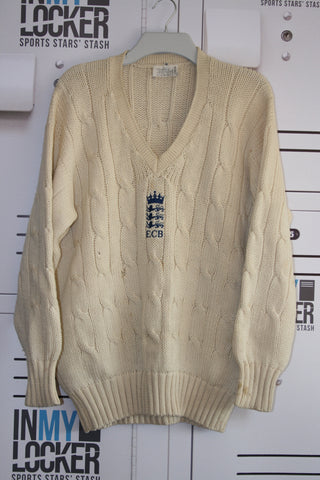 Vanburn Holder - ECB Vintage Cricket Jumper [Cream]