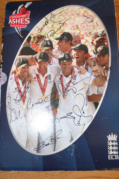 Signed Box Set of 2009 Ashes Programmes