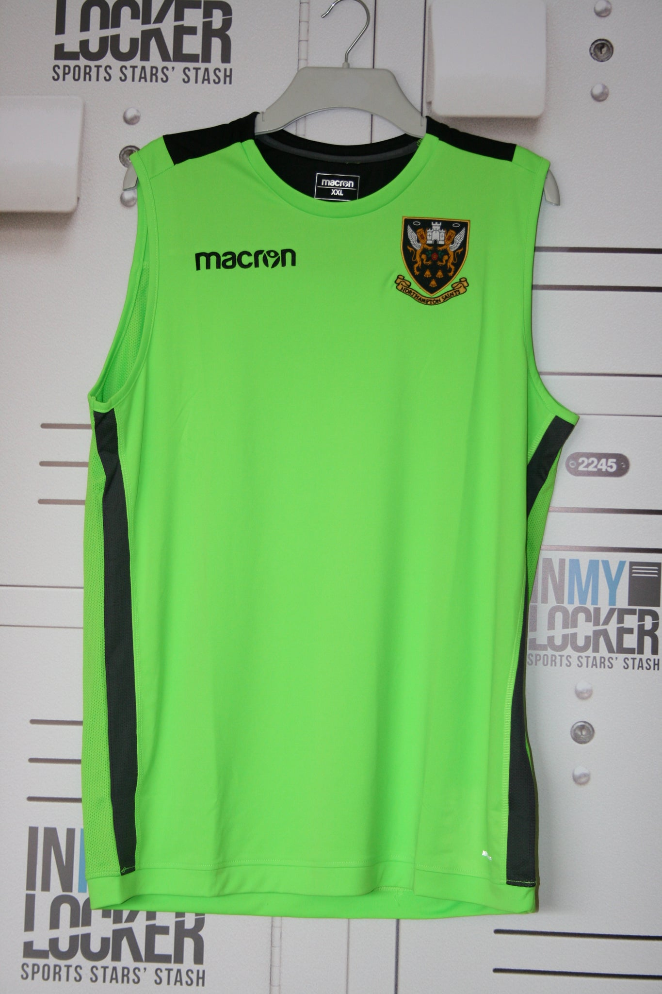 Tom Wood - Northampton Saints Gym Vest [Lime Green]