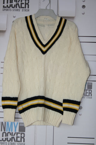 Mike Hill - Hampshire CCC Vintage Cricket Jumper [Cream]