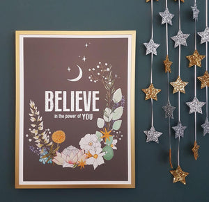 BELIEVE in the Power of You Print Print Fearless Flamingo