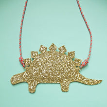 Load image into Gallery viewer, Gold Stegasaurus Bag Purse Mimi & Lula