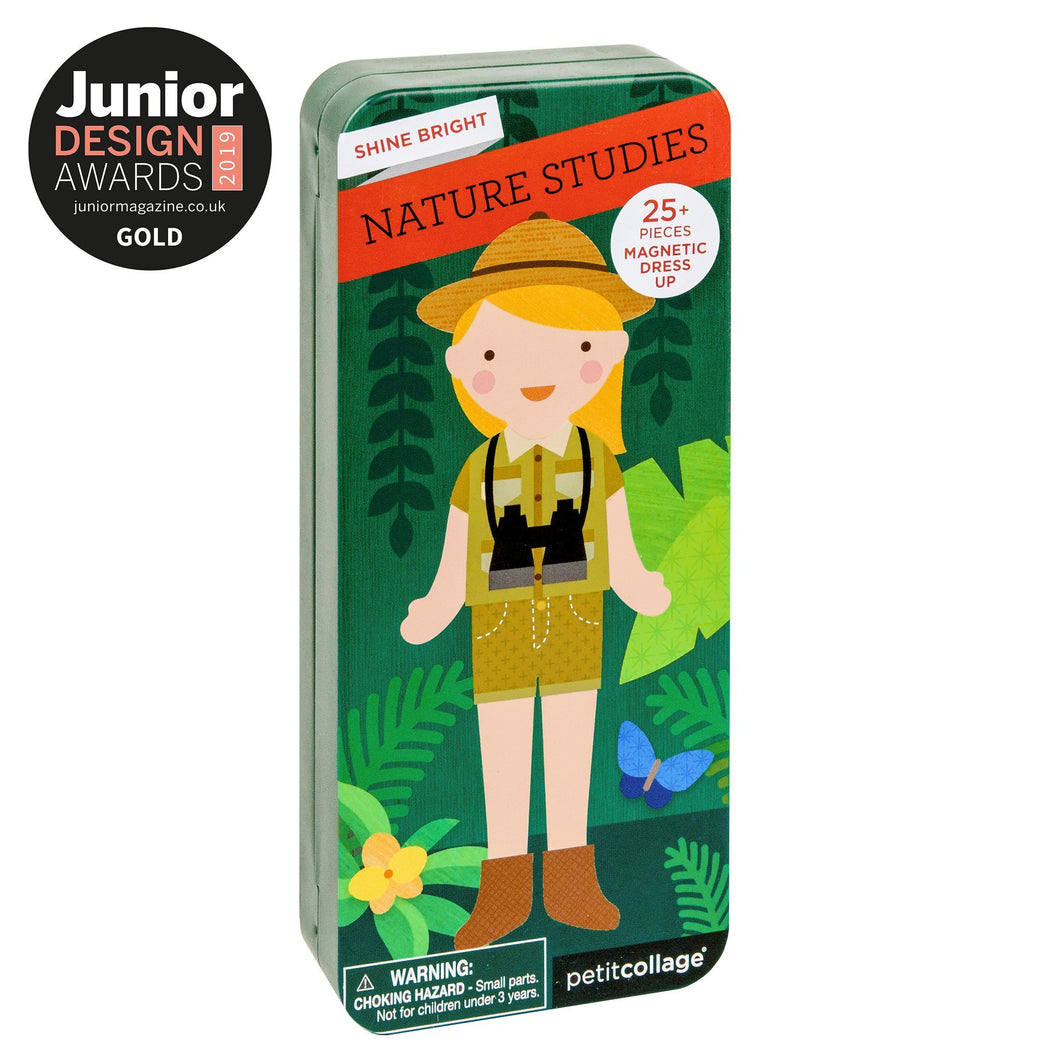 PETIT COLLAGE NATURE STUDIES MAGNETIC DRESS UP Toys Petit Collage