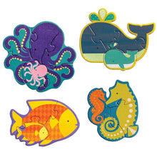 Load image into Gallery viewer, Petit Collage Ocean Babies Beginner Puzzle Jigsaw Petit Collage