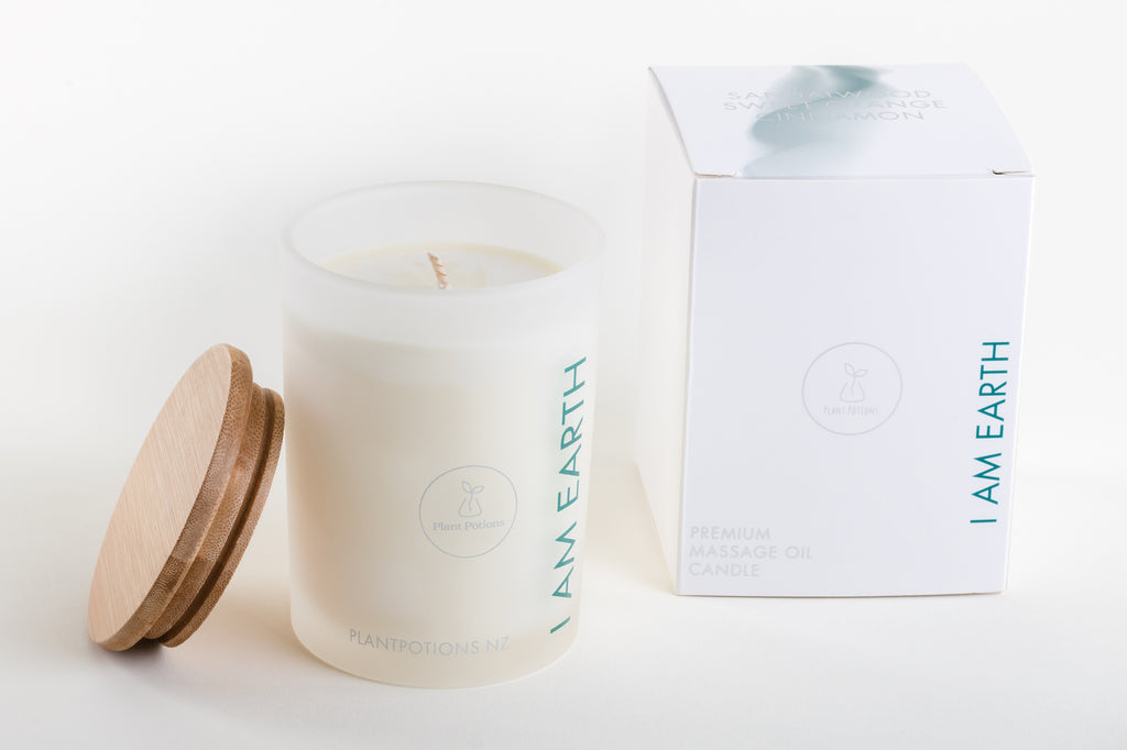 I AM EARTH Premium Massage Oil Candle 275ml