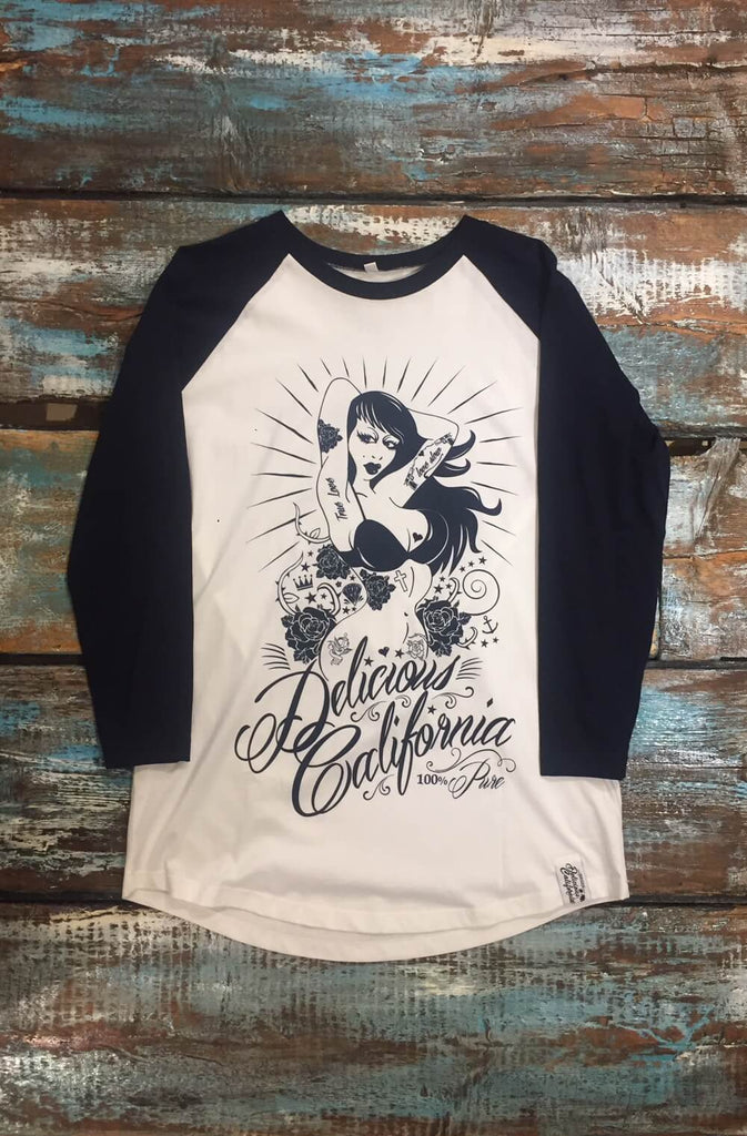 Baseball Tee - 100% Pure Design (UNISEX) - Delicious California