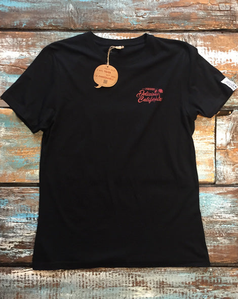 Black T-Shirt - 100% Recycled - Delicious California
