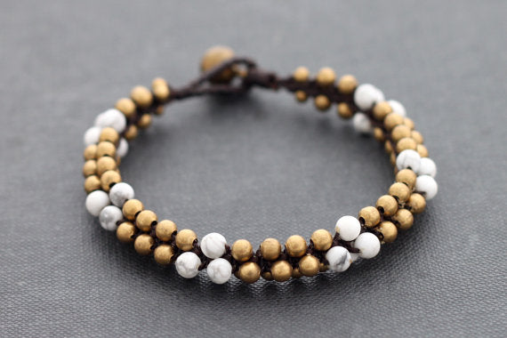 Bracelet Mala Howlite Beaded - Delicious California
