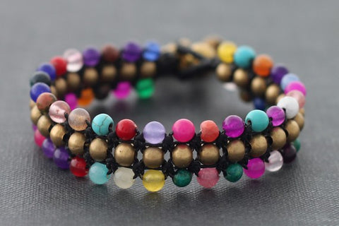 Triple Row Summer Bracelet