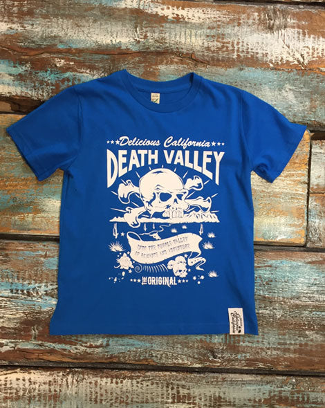 Death Valley (Blue) - Kids T-Shirt - Delicious California