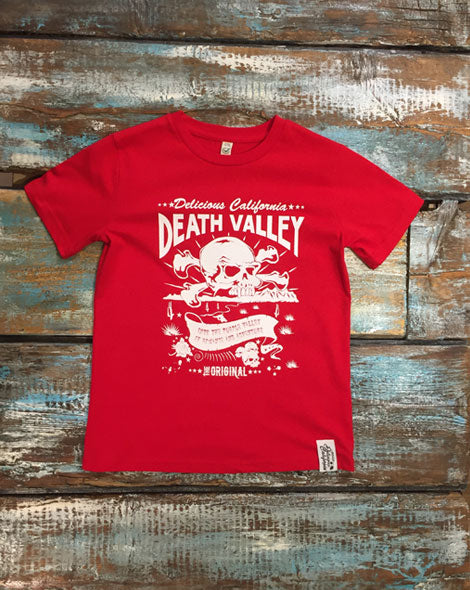 Death Valley (Red) - Kids T-Shirt - Delicious California