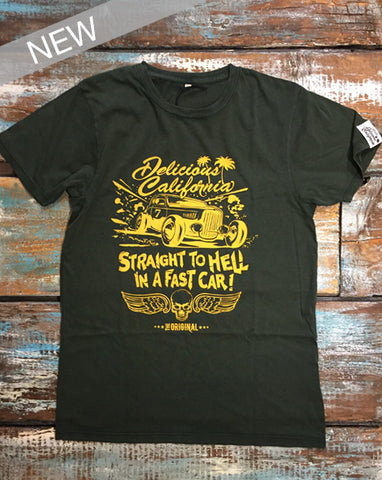 'Straight To Hell In A Fast Car' - Women's Bamboo Graphic T-Shirt