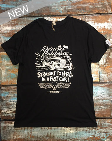 'Straight To Hell In A Fast Car' Graphic T-Shirt
