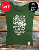 'Straight To Hell In A Fast Car' - Women's Bamboo Graphic T-Shirt - Delicious California