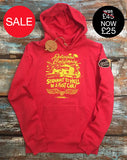 Unisex Hoody (100% Recycled) - Straight To Hell In A Fast Car! - Delicious California